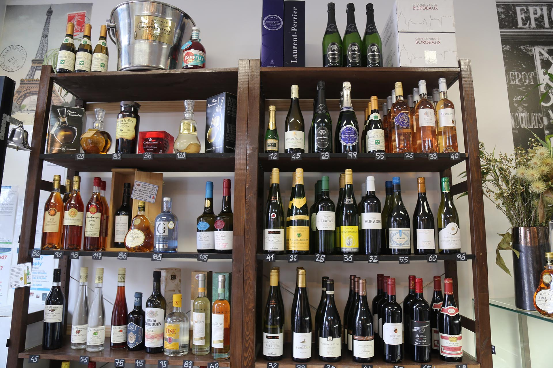 Wine and Spirit selection - Small French Deli