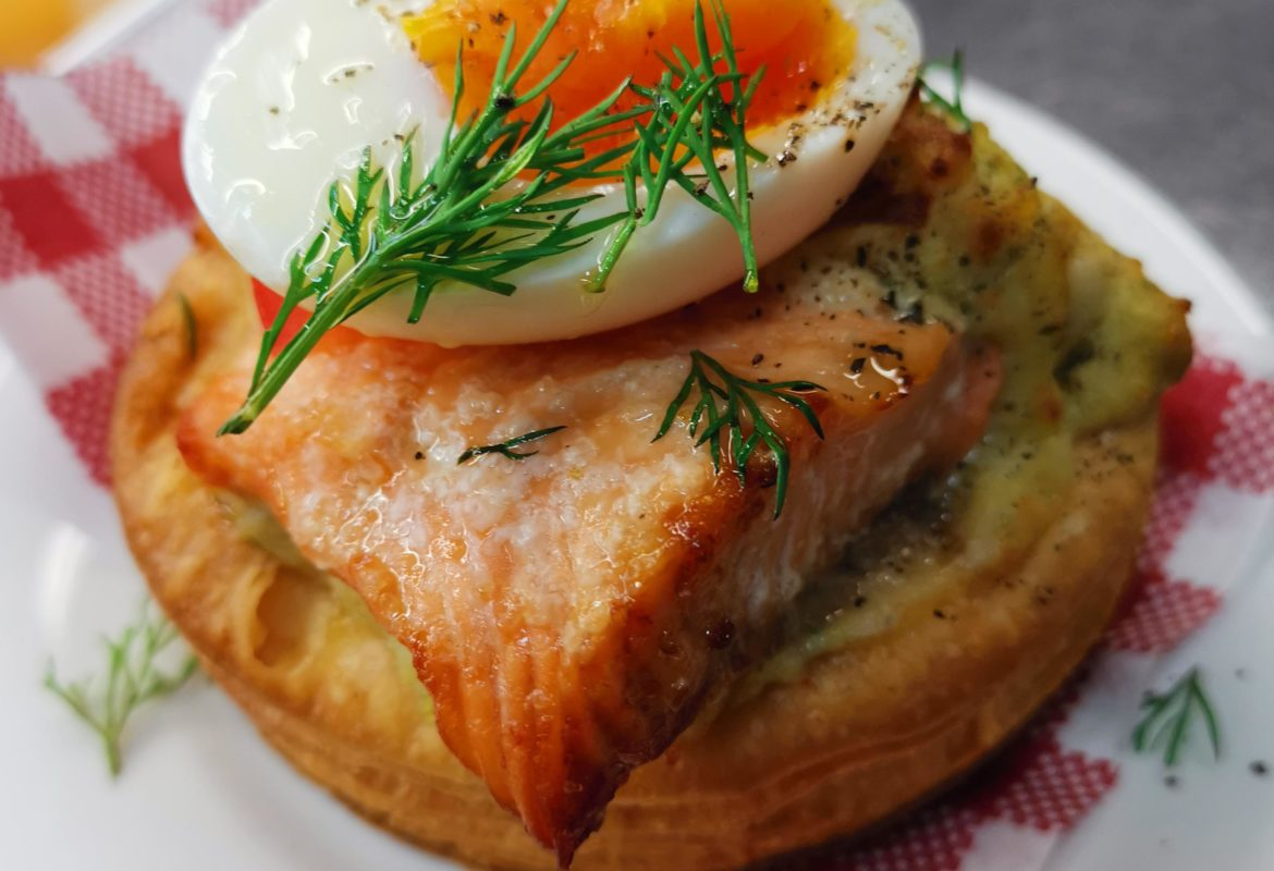 Egg and salmon pastry - Small French Deli
