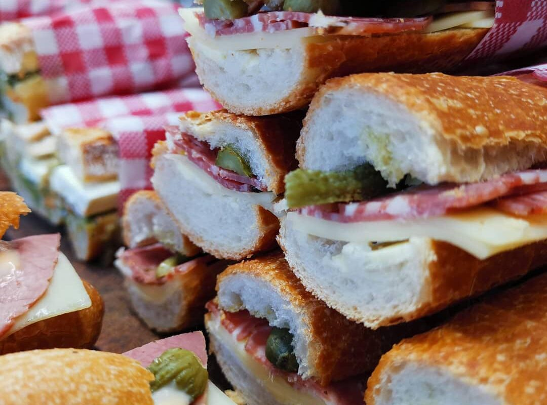 Selection of baguettes - Small French Deli