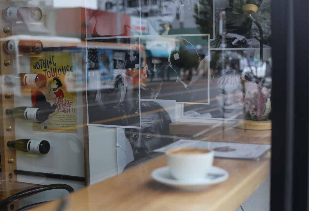 Window seating and coffee - Small French Deli